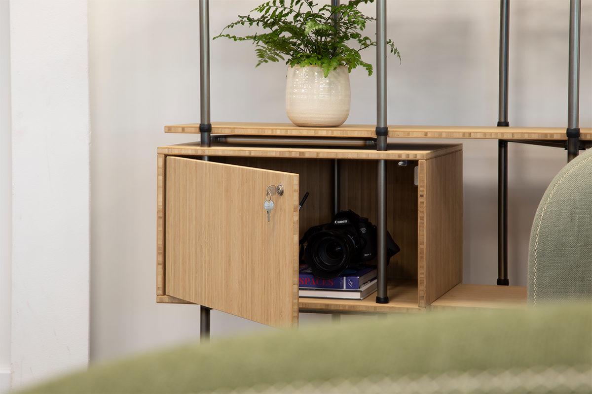 Bamboo Single Storage Locker - Location 1