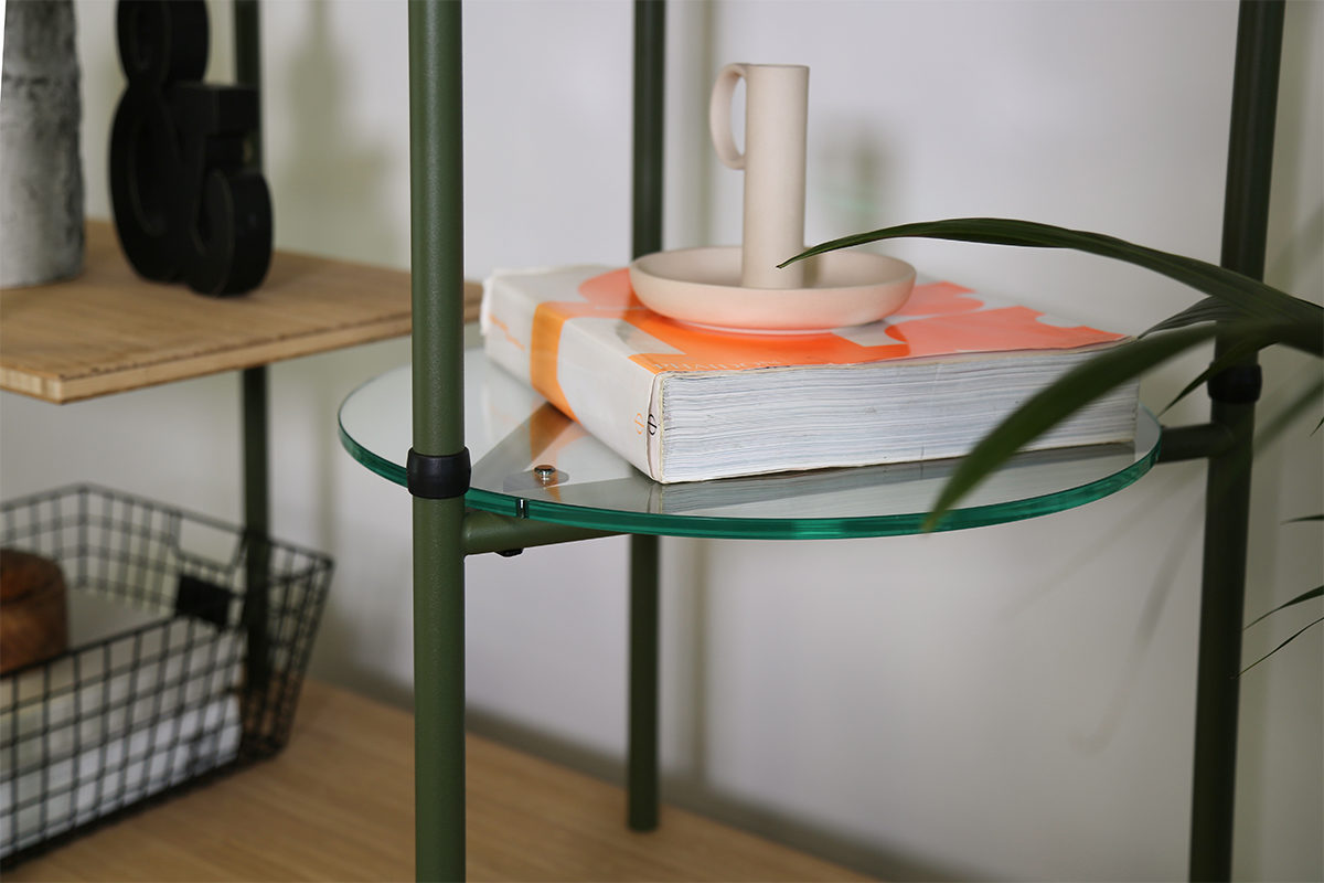 Bamboo Round Perspex Shelf - Location 1